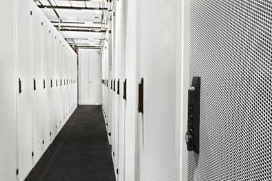 modular data center infrastructure - interior cabinets angle