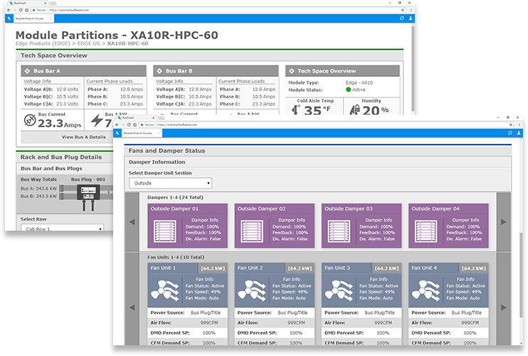 RunSmart DCIM Integrated Module Views